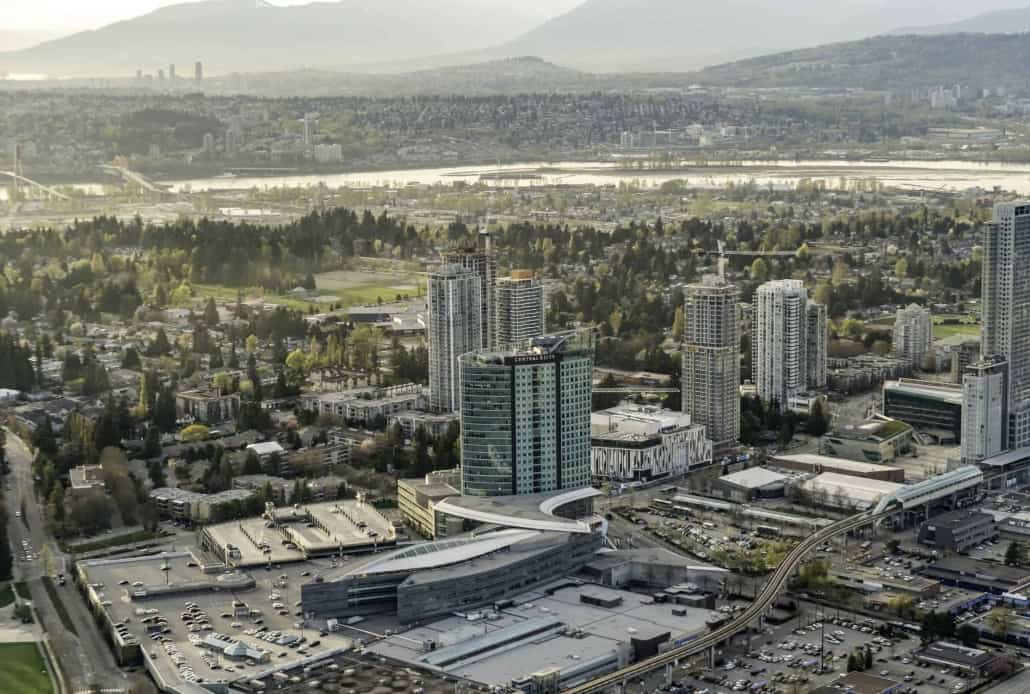 Central City Aerial View, Surrey, BC