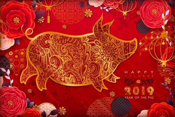Chinese New Year 2019. Zodiac Pig - Central City, Surrey BC