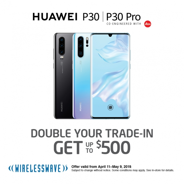 Wirelesswave Huawei P30 trade-in, Central City, Surrey BC
